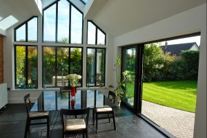 Black Aluminium Feature Window
