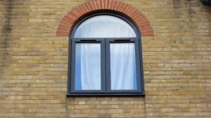 Black Arched UPVC Window