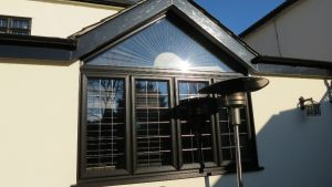 Black UPVC Gable Window