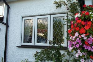 Black and White UPVC Window