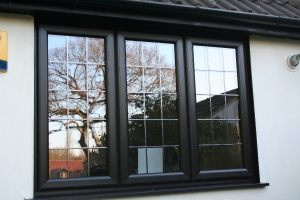 Close Up of Black UPVC