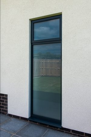 Glass to Ground Aluminium Window