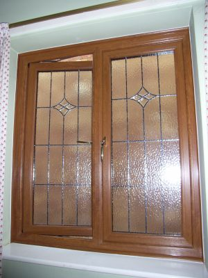 Golden Oak Feature Window