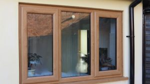 Irish Oak UPVC Window