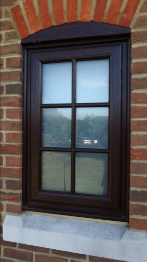 Rosewood UPVC with Astragal Georgian Bars