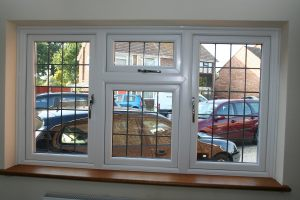 UPVC Window with Hardwood Internal Window Board