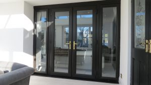 Black Upvc French Doors and Sidelights