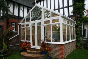 Pretty Glass Roof Gable