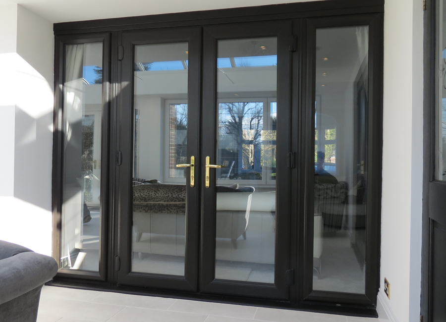 French doors supplier in romford hornchurch upminster for Black french doors exterior