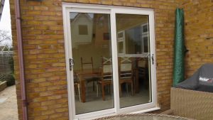 Cream UPVC Dual Sliding Patio