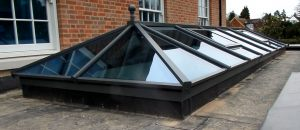 Matt Black Lantern Roof