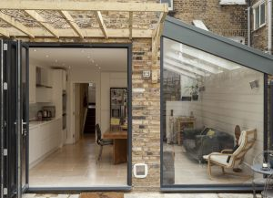 Extension With Roof Light, Bifolds and Raked Frame